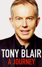 The cover of Tony Blair's book A Journey.