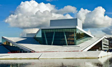 Oslos new opera house combines aesthetics with low-energy performance. Photograph: Jaro Hollan Statsbygg