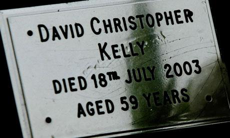 The grave of government scientist Dr David Kelly.