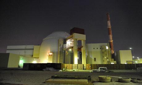 Iranian Bushehr nuclear reactor power plant