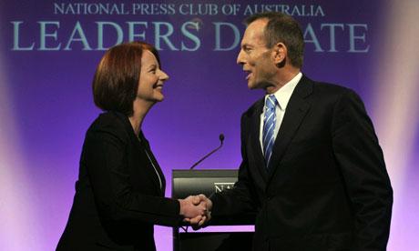 Julia Gillard Tony Abbott