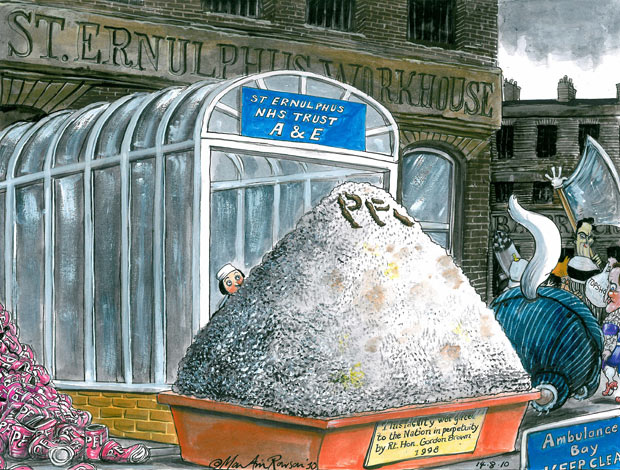 Martin Rowson on the NHS and PFI