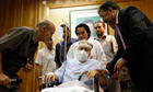 File photo of Abdel Basset al-Megrahi sitting in a wheelchair in his room at a hospital in Tripoli