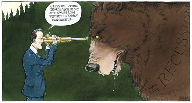 Chris Riddell's Observer comment cartoon 15.08.10