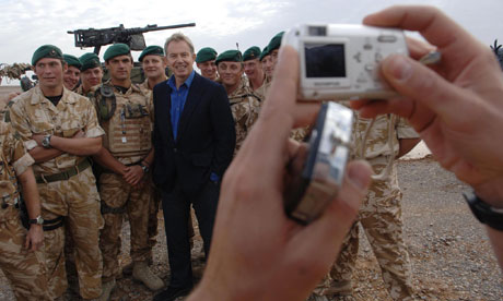 PM Blair in Afghanistan