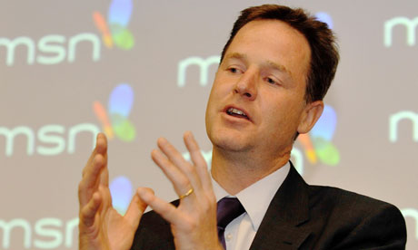 Nick Clegg in an online Q&A on 16 August 2010.