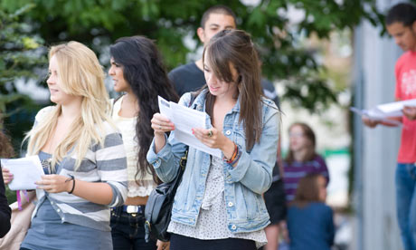 Students joy at A-Level results at Fortismere School in Muswell Hill,  North London