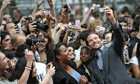 US actor Bradley Cooper with fans