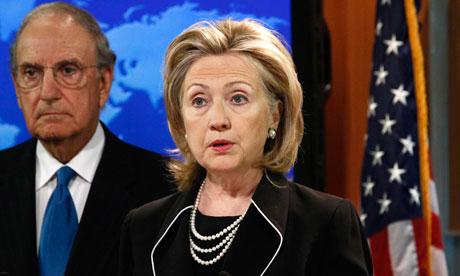The US secretary of state, Hillary Clinton