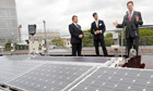 Nick Clegg opens a solar farm in Sheffield