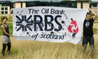 Climate Camp protest against RBS
