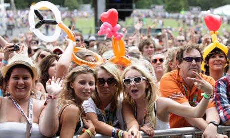 V festival in Hylands Park near Chelmsford 2010
