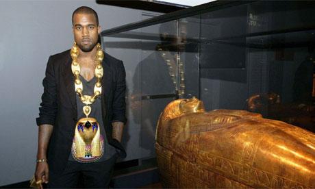 Kanye West at Tutankhamen exhibition, New York