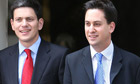 David Miliband (left) and Ed