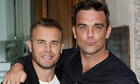 Gary Barlow and Robbie Williams at Radio 1
