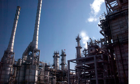 Oil production plant, Saudi Arabia