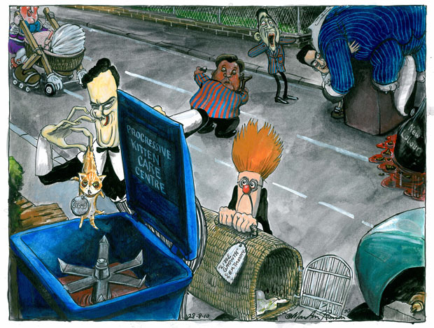 28.08.10: Martin Rowson on the coalition's economic policy
