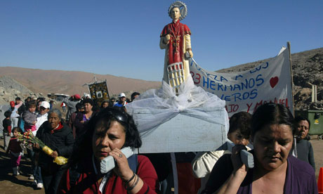 religious ceremony for trapped chilean miners