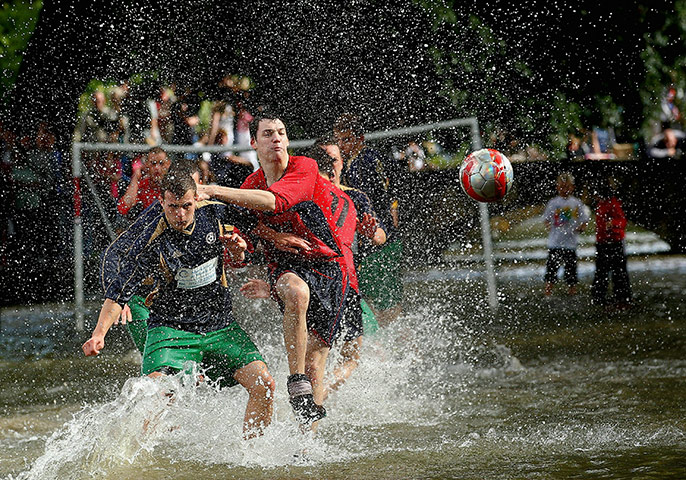 24 hours in pics: Bourton-on-the-Water Football Match