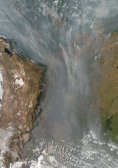 Satellite Eye on Earth: Fires in South America
