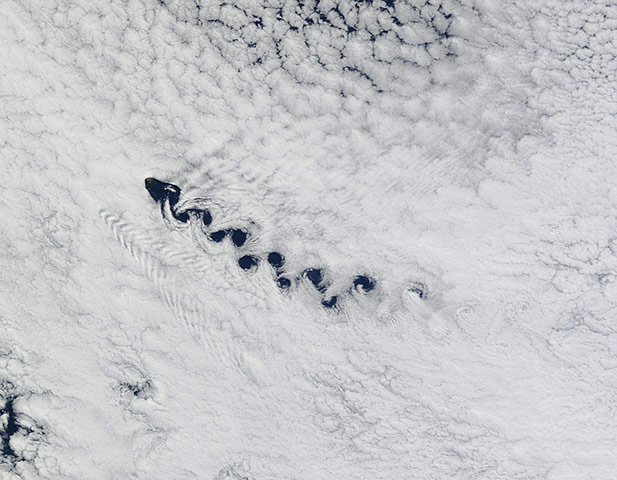 Satellite Eye on Earth: the island of Tristan de Cunha in the South Atlantic