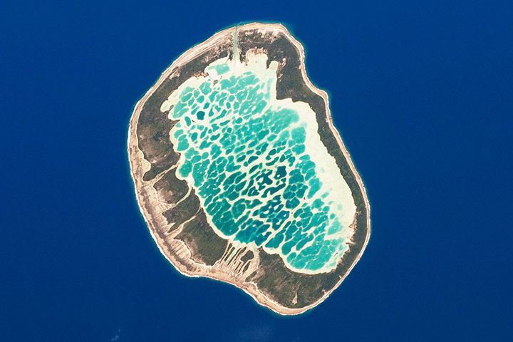 Satellite Eye on Earth: Mataiva Atoll, the westernmost atoll of the Tuamotu chain