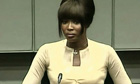 Naomi Campbell at the UN war crimes tribunal