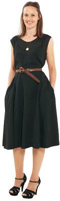Imogen Fox in kee length dress