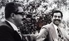 Tariq Aziz with Saddam Hussein