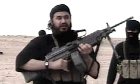 Abu Musab al-Zarqawi in an undated video image released by the US military