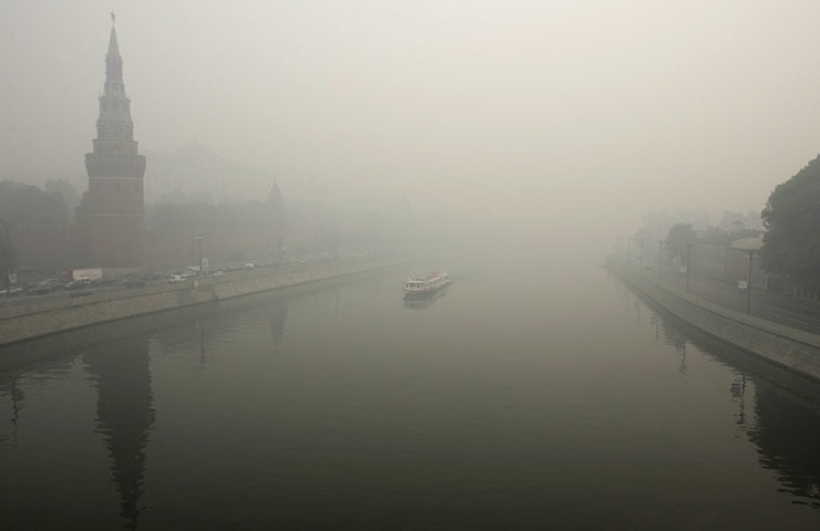Wildfires in Russia : heavy smog from wildfires in Moscow