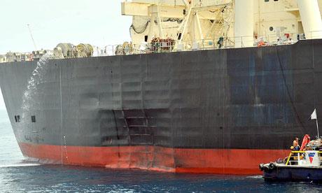 Japanese Oil Tanker Hit By Terrorist Bomb Say Inspectors World News The Guardian