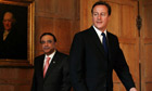 David Cameron Holds Talks With President Zadari Of Pakistan At Chequers