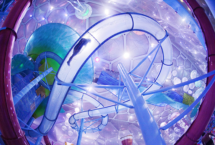 24 hours in pics: New water park opens in Water Cube