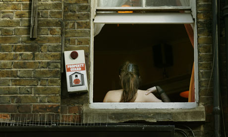 A sex worker in Soho, London