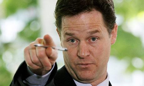 Britain's Deputy Prime Minister Clegg