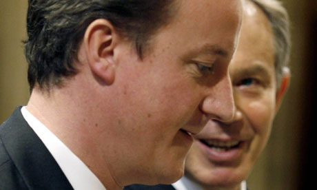 David Cameron and Tony Blair in 2006.