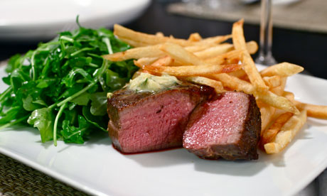 Alex Renton's sous-vide steak.