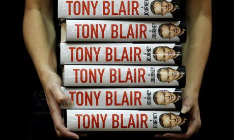 Copies of Tony Blair's A Journey go on sale.