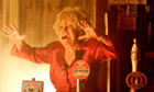 Peggy Mitchell wails with horror tonight as her beloved Queen Vic goes up in flames