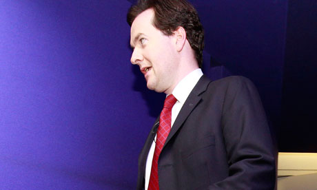 George Osborne arrives to deliver a speech on the economy in the City of London