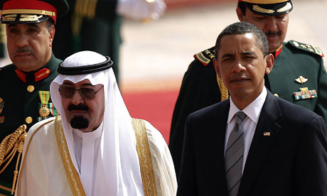 Saudi King Abdullah bin Abdul Aziz al-Saus with Barack Obama