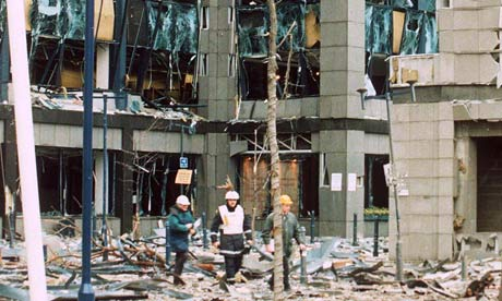 The IRA bombed targets in the City during the 1990s