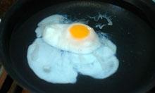 Delia Smith poached egg