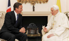 Pope Benedict XVI meets David Cameron