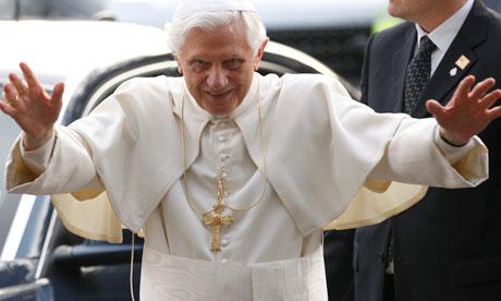 pope benedict xvi evil. Pope Benedict XVI greets his