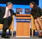 Gordon Brown and Queen Rania in 2008.