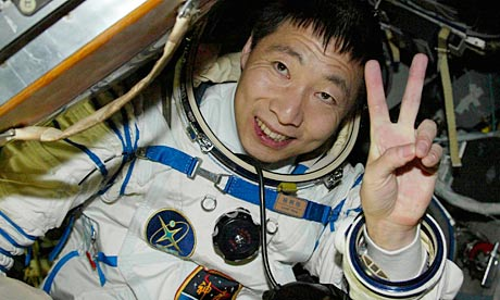 Yang Liwei, China's first astronaut, on his return to Earth