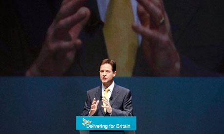 Britain's Deputy Prime Minister Clegg 3