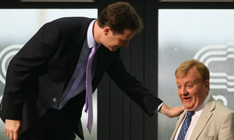 Charles Kennedy with Nick Clegg on Andrew Marr show
